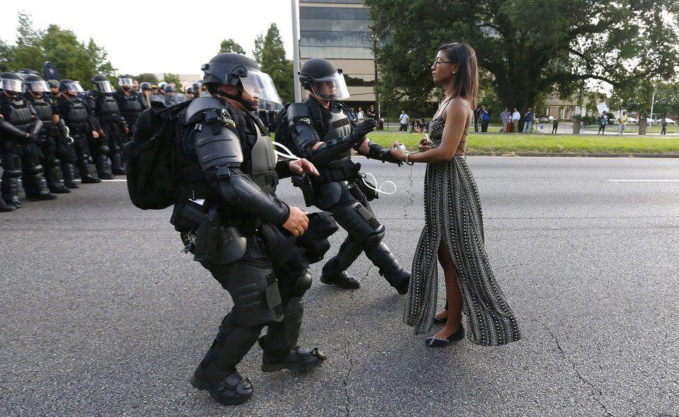 Black woman standing
