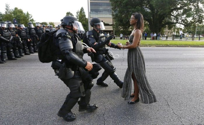 Black woman standing